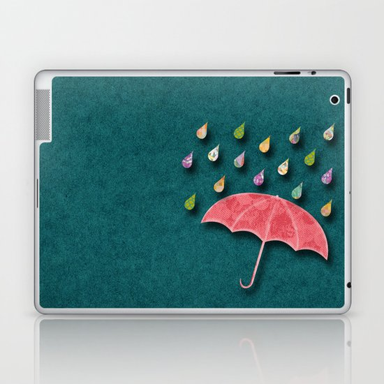 It's raining, it's pouring Laptop & iPad Skin