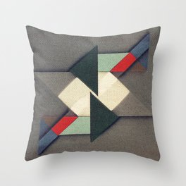 La Réunion Geometrique Throw Pillow