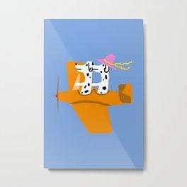 Airplane and Dalmatians Metal Print