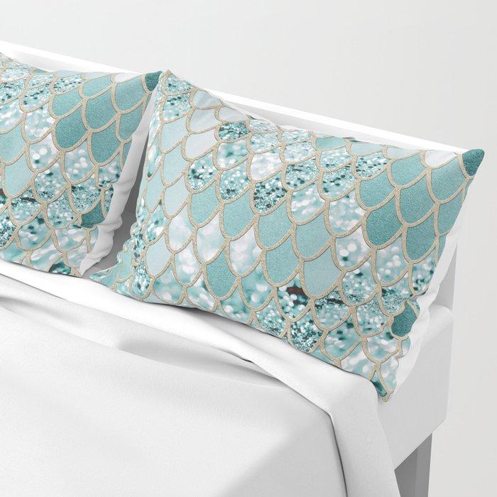 Mermaid Glitter Scales #3 #shiny #decor #art #society6 Pillow Sham