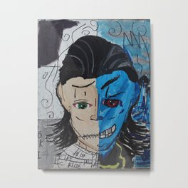 Loki The madness and sadness within  Metal Print