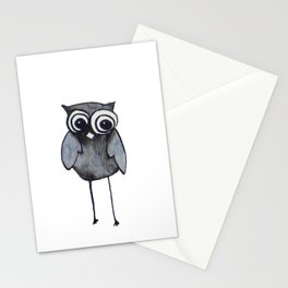 The Friendly Owl - White Background Stationery Cards