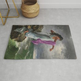 Death of the Tenth Muse Poetess Sappho at Leucadian cliffs by Miguel Carbonell Selva Rug