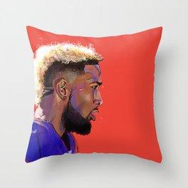 Odell Beckham Jr. Throw Pillow