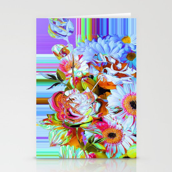 Wild Floral Abstract Stationery Cards