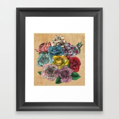 Flowers in Roses Framed Art Print