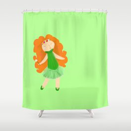 Red haired Ballerina Shower Curtain