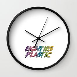 Eighties Plastic Wall Clock