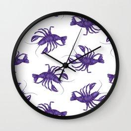Le Lobster Bleu Wall Clock