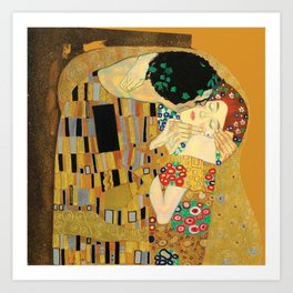 The Famous Kiss by Gustav Klimt Art Print