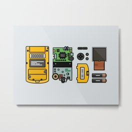 Game Boy Dissection Metal Print