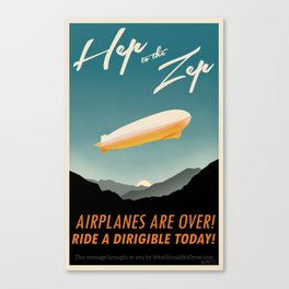 Hep to the Zep Canvas Print