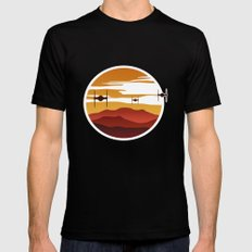 To the sunset Black Mens Fitted Tee MEDIUM