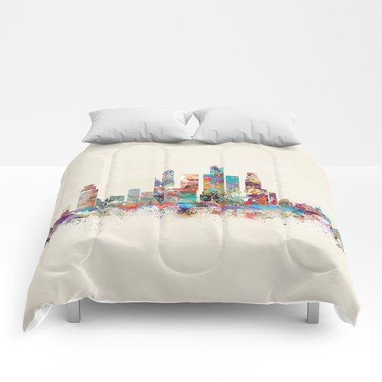 Singapore city skyline Comforters