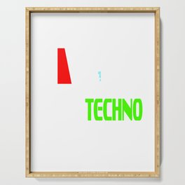 """Stay alert and recharge with this cutie and adorable sleepy tee. Grab this """"Need Techno"""" tee now!  Serving Tray"""