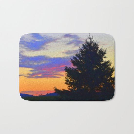 West Brome Sunset Landscape Bath Mat