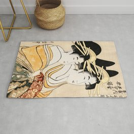 2 geishas Rug