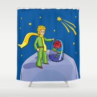 the little prince Shower Curtains featuring Little prince by Dennis Morgan