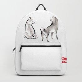 Two Shiba Inu Couple Backpack