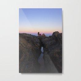 Hollywood Sunset Rocks Metal Print