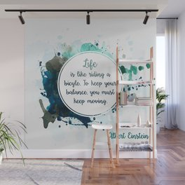 Albert Einstein's quote Wall Mural
