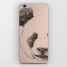 pink panda iPhone Skin