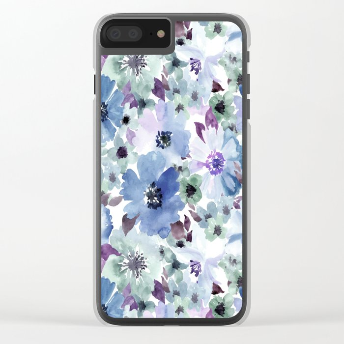 FLOWERS WATERCOLOR 20 Clear iPhone Case