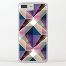 Facets 3 Clear iPhone Case
