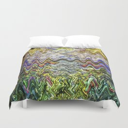 Stain Glass Wave Duvet Cover
