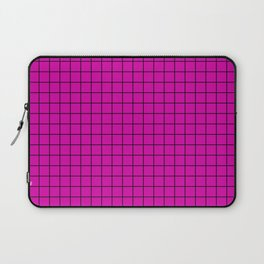 Magenta with Black Grid Laptop Sleeve