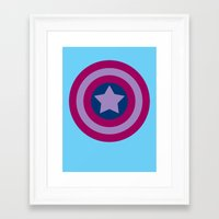bisexual Framed Art Prints featuring American Pride (bisexual edition) by Nikki Homicide