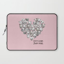 Just Love. (black text) Laptop Sleeve