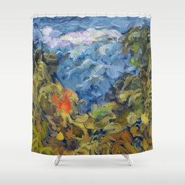 Landscape 2 Mountains Shower Curtain