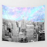 new york city Wall Tapestries featuring New York City. by 2sweet4words Designs