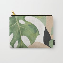 Abstract Art Tropical Leaves 3 Carry-All Pouch