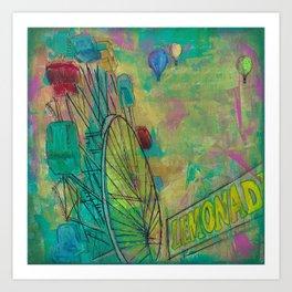 Ferris Wheel Fun Duvet, Shower Curtains, Large Prints Art Print