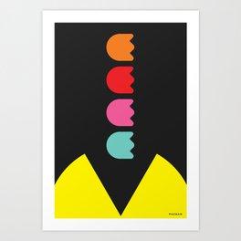 PACMAN ARGGG Art Print