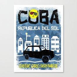 Cuba, Republica del Sol Canvas Print