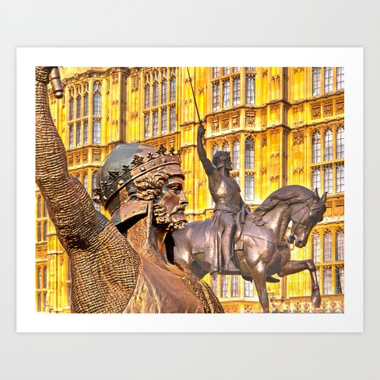 King Richard The Lion-Heart Art Print