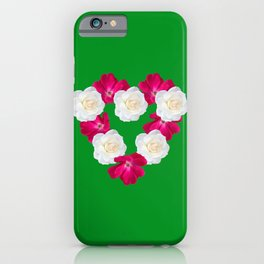 Rose Heart Kelly Green iPhone Case