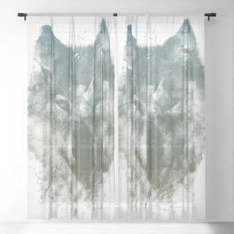 Wolf Like Me Sheer Curtain
