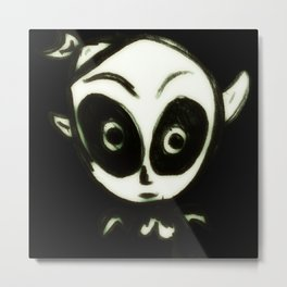 Little BlaCk Ghost Metal Print