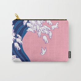 Llama Waves in Pink Carry-All Pouch