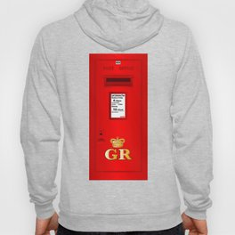 Traditional British  Georges Reign Postbox Hoody