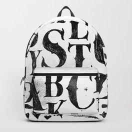 Vintage gothic alphabet Backpack