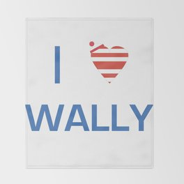 I Heart Wally Throw Blanket