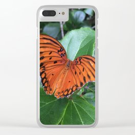 Butterfly at rest Clear iPhone Case