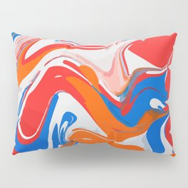 Liquid abstract marbled paint Pillow Sham