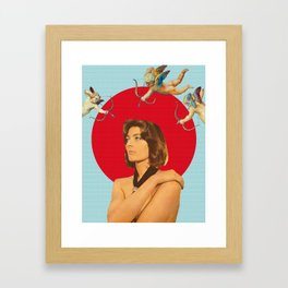 Angels Hunting a Woman Framed Art Print