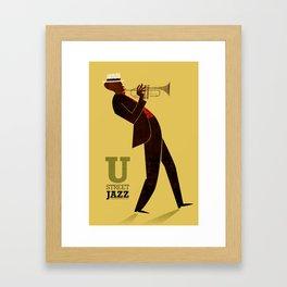 U Street Jazz (Trumpet) Framed Art Print